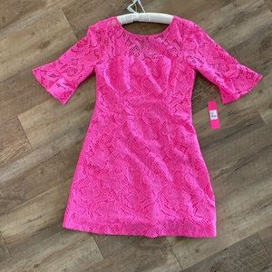 Lilly Pulitzer Allyson Pink lace dress 12